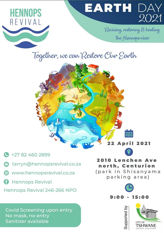 Join ARMOUR supporting Hennops Revival for Earth Day